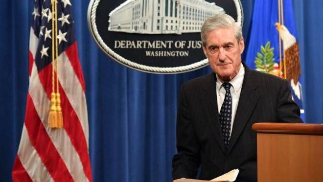 O procurador especial Robert Mueller após pronunciamento sobre a investigação da interferência russa nas eleições americanas de 2016, no Departamento de Justiça dos Estados Unidos, em Washington, 29 de maio