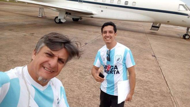Deputado federal Boca Aberta e deputado estadual Boca Aberta Junior.