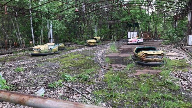 A cidade de Pripyat, na Ucrânia, 33 anos depois do acidente nuclear