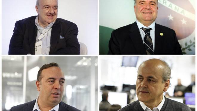 Rafael Greca, Ney Leprevost, Fernando Francischini e Gustavo Fruet estão entre os prováveis candidatos a prefeito em 2020.