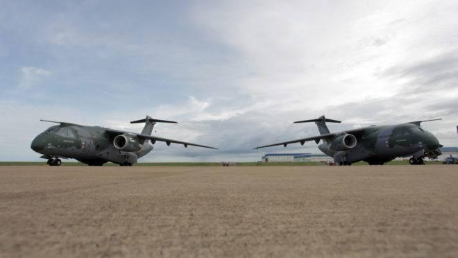 Protótipos do KC-390, o cargueiro militar da Embraer