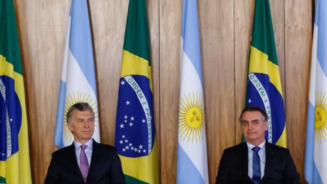 Macri e Bolsonaro: viagem à Argentina será dias 5 e 6