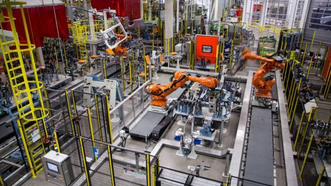 Visão geral da nova fábrica de solda de cabinas da Scania, em São Bernardo do Campo.