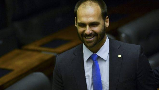 Eduardo Bolsonaro, deputado federal e filho do presidente Jair Bolsonaro.