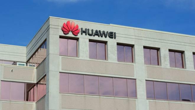 Um escritório da Huawei. gigante chinesa de telecomunicações
