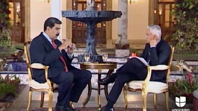 Mentiras e ameaças em uma entrevista tensa com o ditador da Venezuela