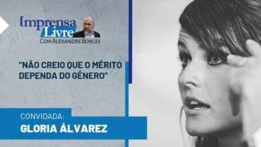 Gloria Álvarez é a entrevistada de Alexandre Borges