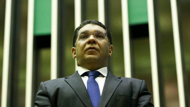 O secretário do Tesouro Nacional, Mansueto Almeida, durante sessão solene da Câmara dos Deputados.