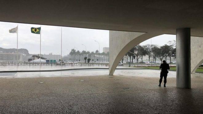 Praça dos Três Poderes, no centro de Brasília.