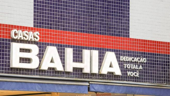 Fachada de uma loja da Casas Bahia, uma das marcas da Via Varejo
