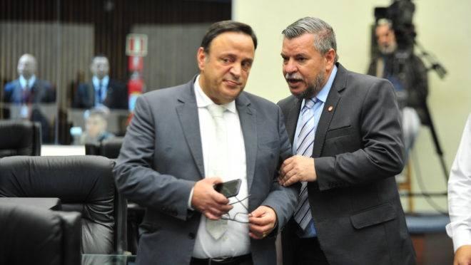 Hussein Bakri (PSD) ao lado do Delegado Jacovós (PR)