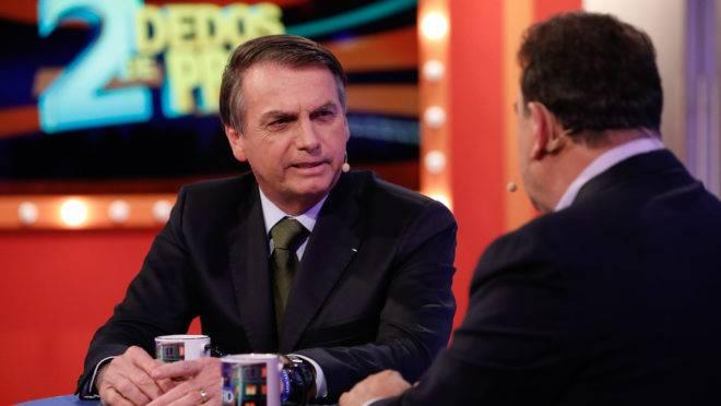 Presidente Jair Bolsonaro concedeu entrevista ao apresentador Ratinho, do SBT. Foto: Alan Santos/PR