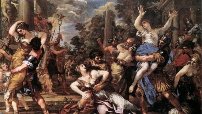 """""""O rapto das sabinas"""" de Pietro da Cortona."""