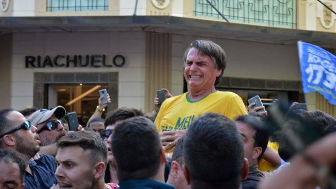 Momento da Facada em Bolsonaro