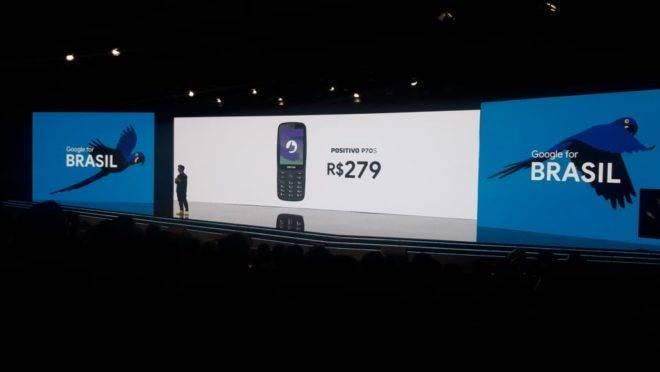 Lançamento do P70s pela Positivo Tecnologia no evento Google for Brasil.