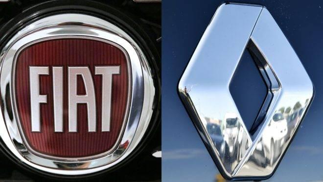 Logos da Fiat e da Renault