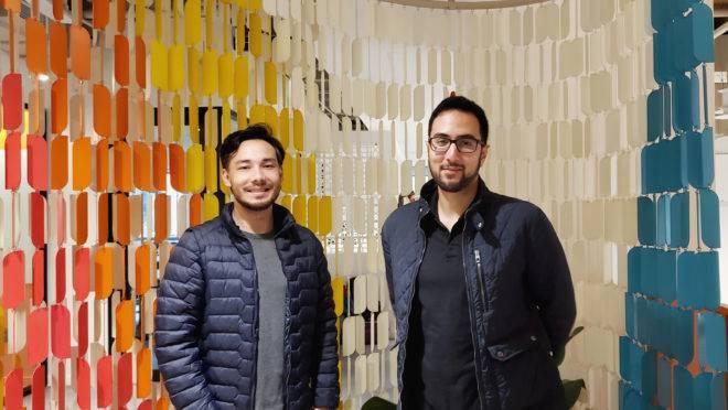 Os sócios da startup Eunerd, Daniel Tutida e Bruno Ramos.