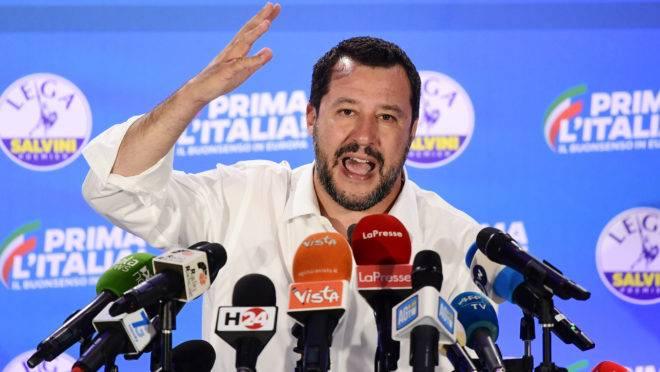 O vice-primeiro ministro e ministro do Interior da Itália, Matteo Salvini.