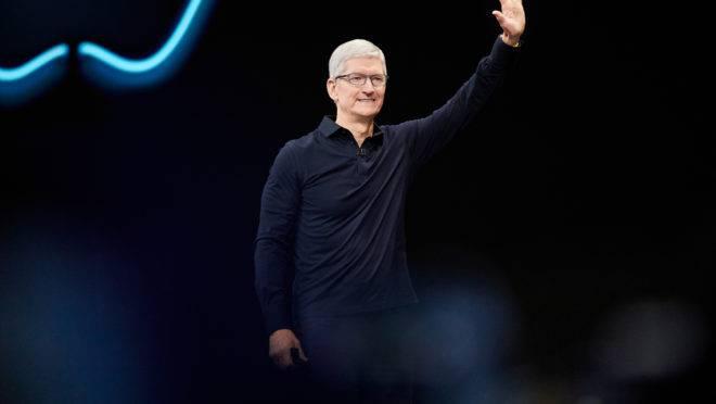 O CEO da Apple, Tim Cook, apresenta as últimas novidades da empresa a WWDC 2019, a conferência para desenvolvedores da Apple.