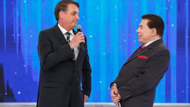 (São Paulo - SP, 02/05/2019) Presidente da República Jair Bolsonaro, durante entrevista ao apresentador Silvio Santos. Foto: Alan Santos/PR