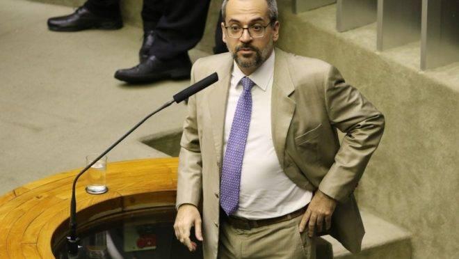 O ministro da Educação, Abraham Weintraub, na Câmara dos Deputados  para detalhar como será feito o bloqueio de verbas de universidades públicas e institutos federais. O ministro foi convocado para falar sobre bloqueio de recursos.