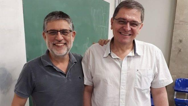 Os professores Marcelo Hermes-Lima e Ricardo da Costa: luta pela liberdade de expressão no ensino. Foto: Arquivo Pessoal.