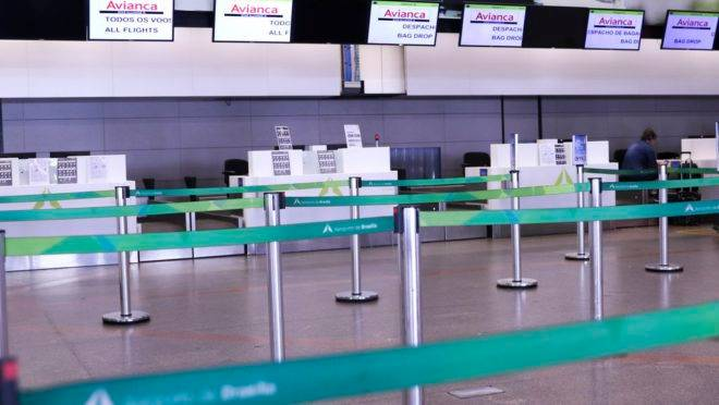 Guichês da Avianca no Aeroporto de Brasília
