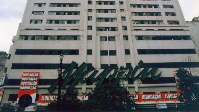 Fachada de antiga loja da rede Mappin, em São Paulo