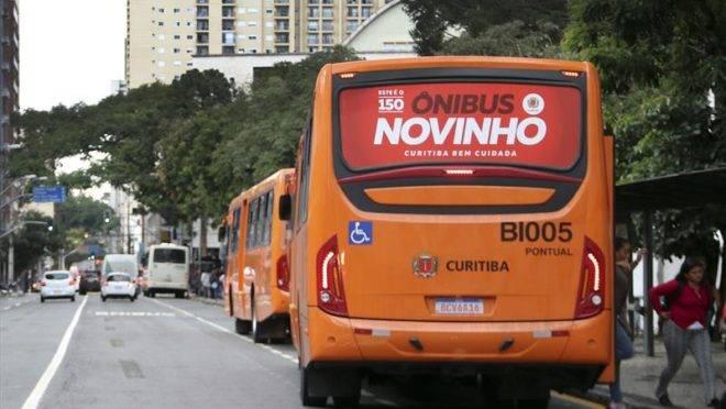 O tradicional ônibus amarelo para as linhas convencionais passou a ser laranja