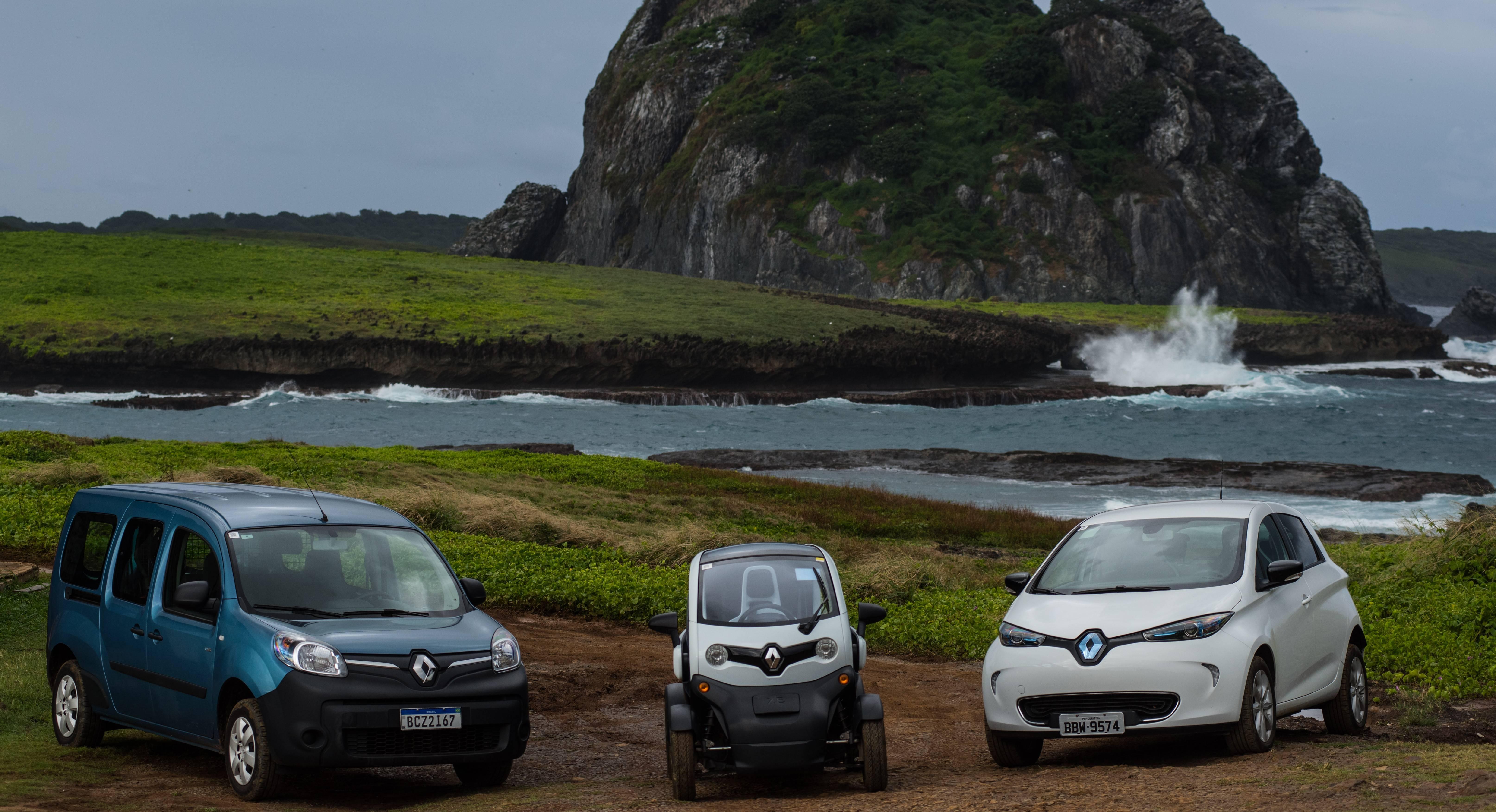 Kangoo Z.E., Twizy e Zoe serão usados em Fernando de Noronha. Foto: Zaira Matheus/ Renault/ Divulgação