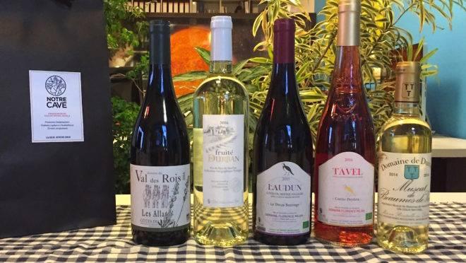 Os vinhos do Rhône que serão harmonizados com o cardápio do chef Danilo Takigawa no evento programado para a Aliança Francesa. (Fotos/ Divulgação)