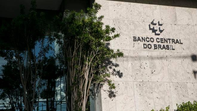 Fachada do Banco Central em Curitiba.