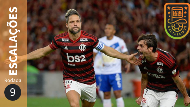 Confira as prováveis escalações de todos os 20 times da 9ª rodada do Cartola FC 2019