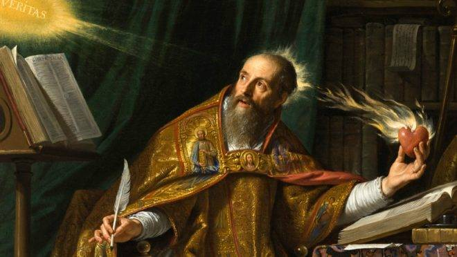 Pintura de Santo Agostinho de Hipona, por Philippe de Champaigne.