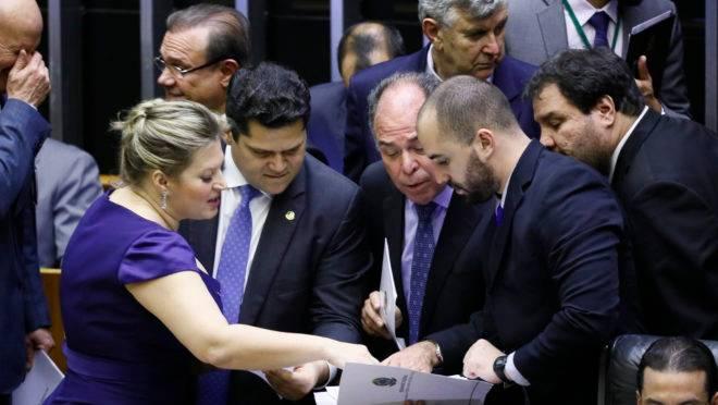 Sessão do Congresso Nacional que aprovou crédito extra para o governo Bolsonaro. Foto: Luis Macedo/Agência Câmara