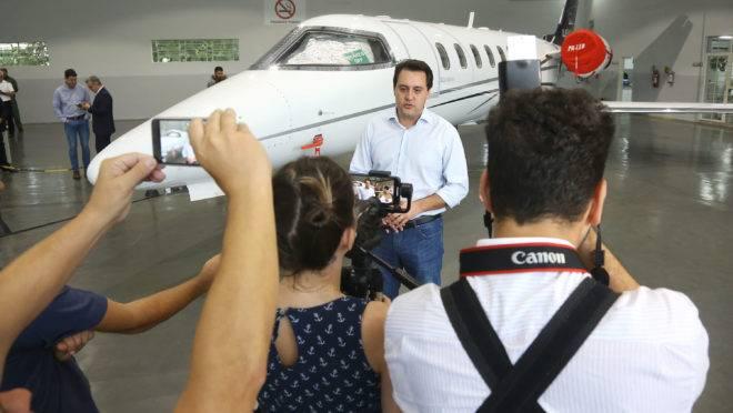 O governador Carlos Massa Ratinho Junior entregou em janeiro a aeronave que ficava à disposição do poder Executivo.