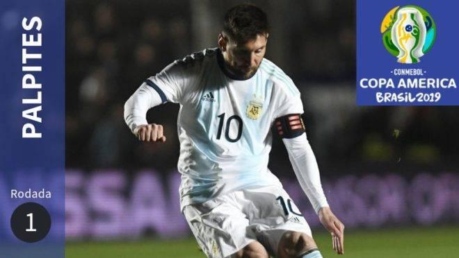 Veja os palpites para os jogos da 1ª rodada da Copa América