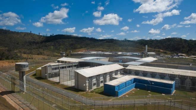 Instalações do Complexo Penitenciário em Ribeirão das Neves, Minas Gerais.