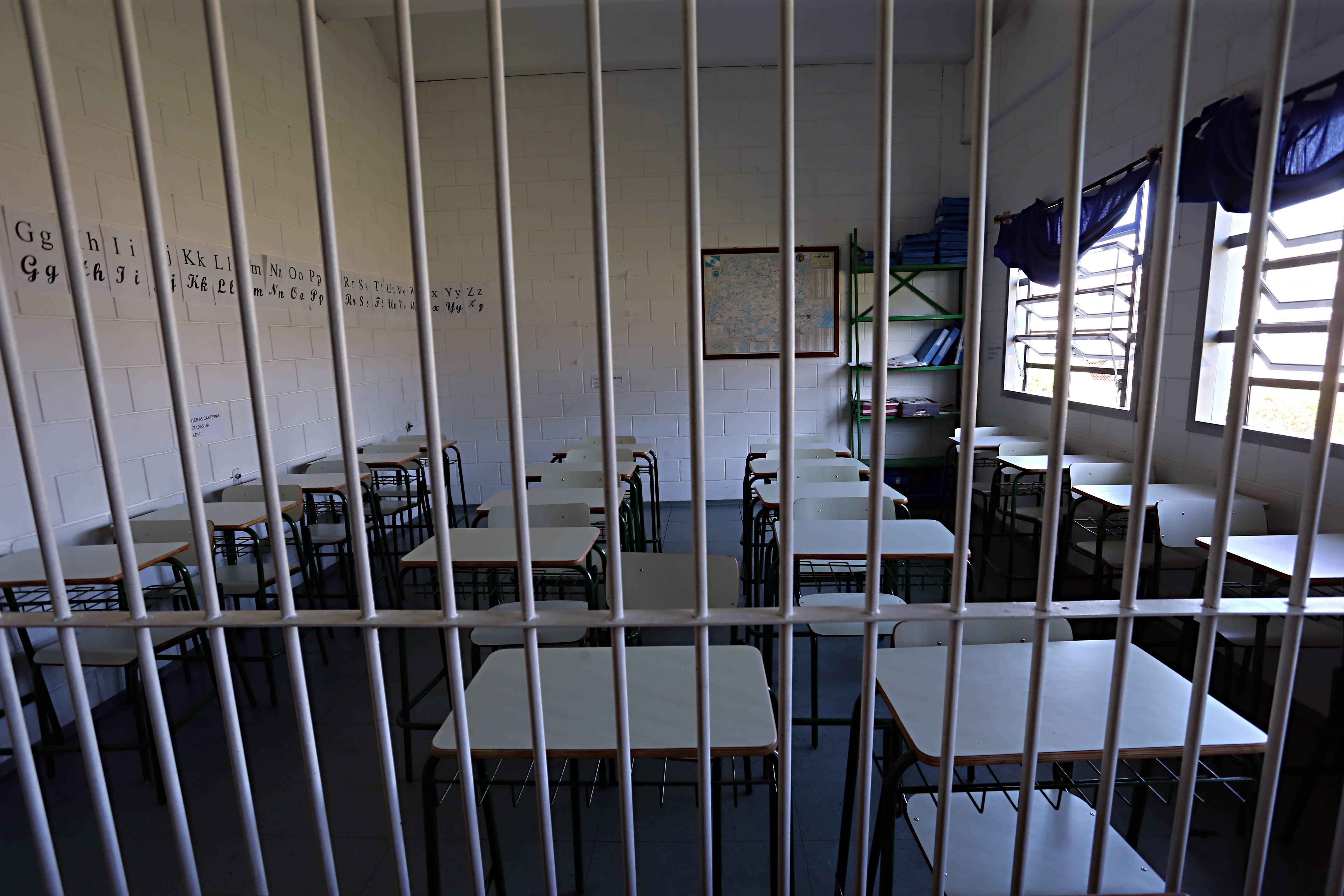Sala de aula em presídio: segundo o Depen, em fevereiro cerca de 47% dos presos estudavam no Paraná.
