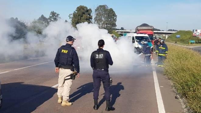 Disparo foi dado pela Guarda Municipal de Araucária quando prestava apoio à PRF na Rodovia do Xisto.