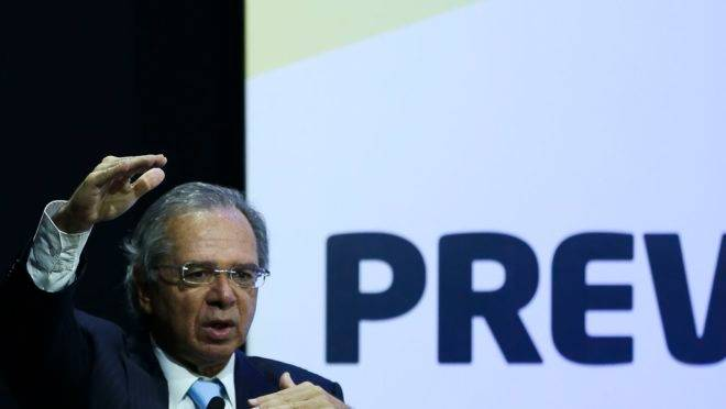 O ministro da Economia, Paulo Guedes, não gostou do novo texto da reforma da Previdência. Foto: José Cruz/Agência Brasil.