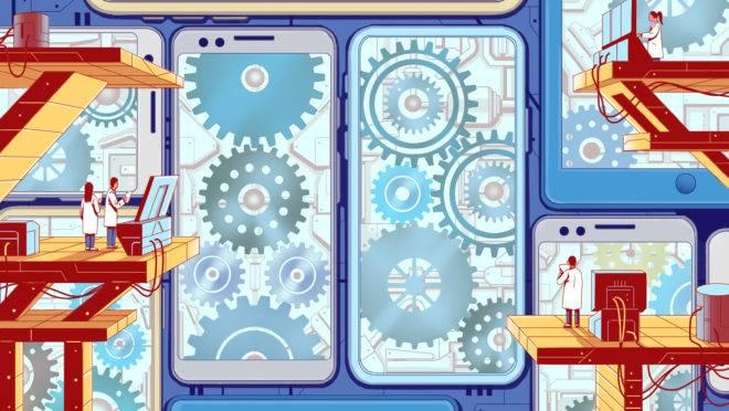 ilustração sobre atualizações de celular
