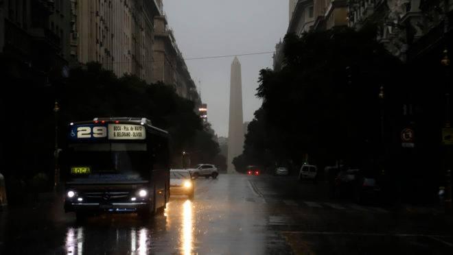 Centro de Buenos Aires durante apagão