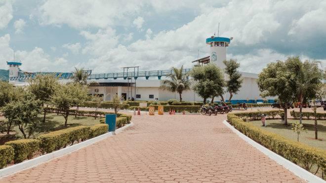 Entrada da Casa de Prisão Provisória de Palmas, em Tocantins.