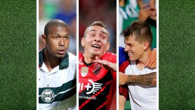 Os melhores (e piores) reforços de Athletico, Coritiba e Paraná no pré-Copa América