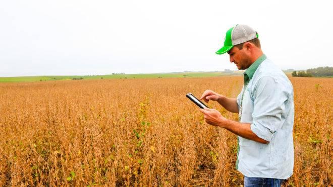 Maurício de Bortolli, engenheiro agrônomo da Sementes Aurora, campeão do Desafio Máxima Produtividade de Soja 2019