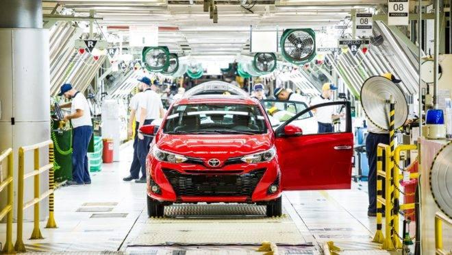O Yaris é um dos modelos fabricados na planta de Sorocaba (SP).