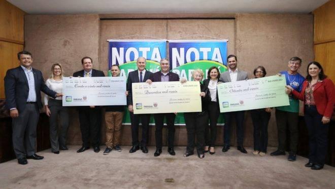 Ganhadores do Nota Paraná de junho de 2019