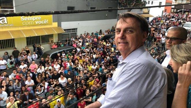 Bolsonaro em Eldorado, interior de São Paulo.