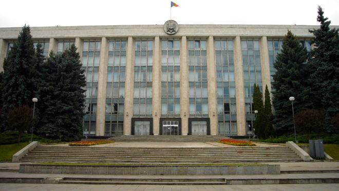 O Parlamento de Moldova, em Chisinau